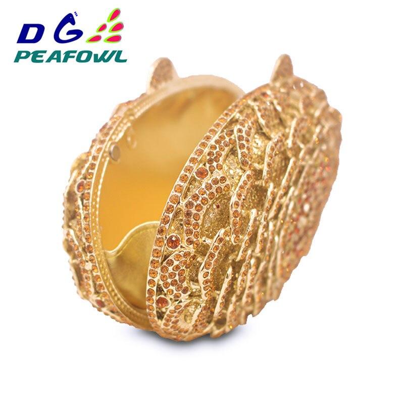 Diamant Luxus Pfau Abend Geldbörse Hochzeit Handtaschen Kupplungen Kette Frauen Blume Tasche Tag Gold Kristall Party x0nqwrYZ0S