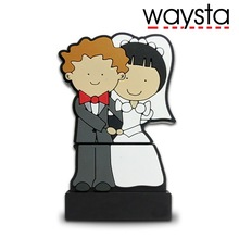 Waysta Wedding gift Pendrive 64GB flash memory 1gb 2gb 4gb 8gb 16gb 32gb Pen Drive Couples bride USB Flash Drive