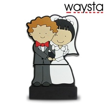 Свадебный USB флеш-накопитель 64 ГБ, Флешка 1 Гб 2 ГБ 4 ГБ 8 ГБ 16 ГБ 32 ГБ для пар, флеш-карта памяти для невесты, подарок(Waysta