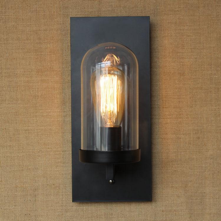 wall lantern indoor. Vintage Lighting Indoor Wall Lamps E27 Lampholder Glass Lampshade Bedside Sconce Lights Hotel Cafe Bar Antique Lamp-in LED From Lantern N