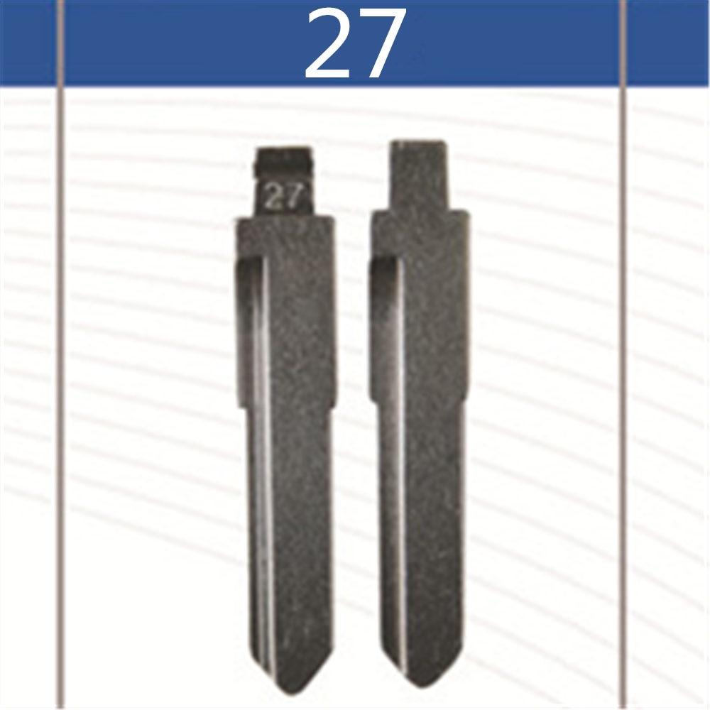 2 Pcs Uncut Replacement Car Key Blade for MAZDA 3 5 6 FAMILY HAIMA 323 FREEMA Key No.27 Blank Brass Car Key Blade