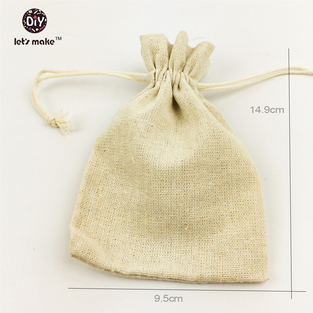 Let\'s make Medium cotton muslin bags unbleached double cord ...
