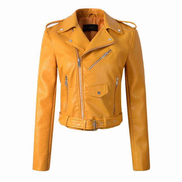 chaquetas de cuero con cinturón
