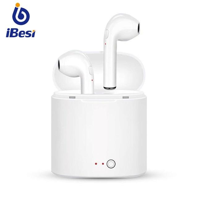 IBESI i7s TWS беспроводные наушники Bluetooth наушники-вкладыши стерео наушники-вкладыши гарнитура с зарядным устройством для iPhone Xiaomi huawei