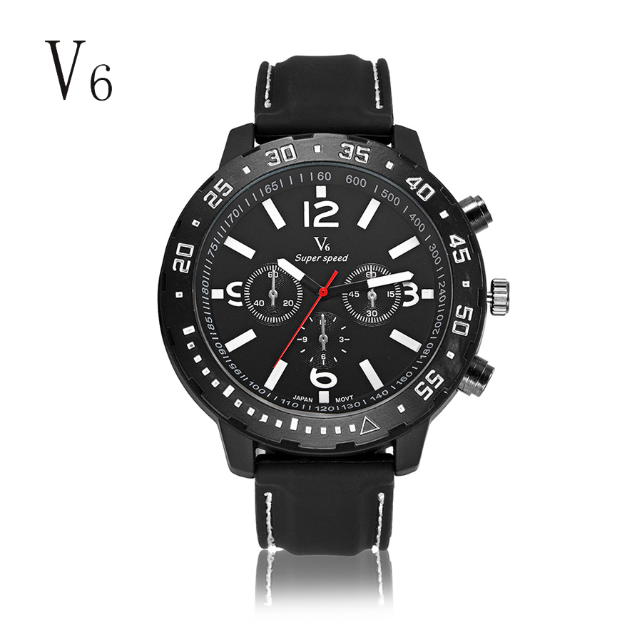 цена на Watches Men Luxury Top Brand V6 New Fashion Men's Big Dial Designer Quartz Watch Male Wristwatch relogio masculino relojes