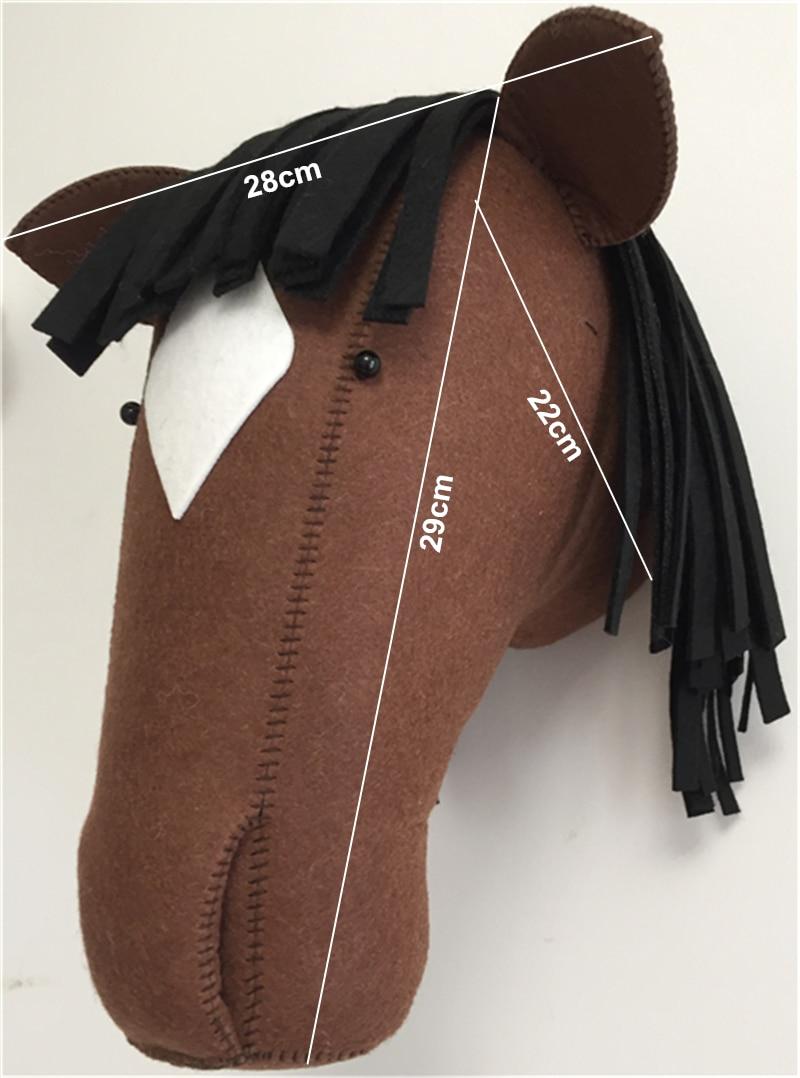size deep brown horse
