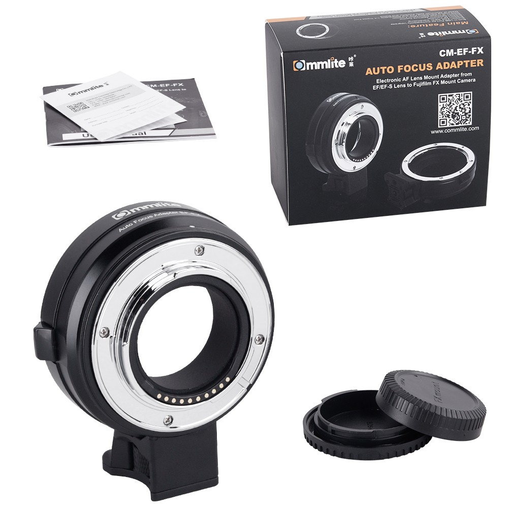 US $169 0 |Commlite CM EF FX Electronic AF Lens Mount Adapter from Canon  EF/EF S Lens to Fujifilm X T3 X T2 X H1 XT20 FX Mount Camera-in Lens  Adapter