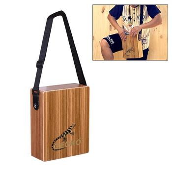 GECKO C-68Z Cajon Drum Traveling Box Drum Portable Wooden Hand Drums Percussion Instrument with Strap Tuning Wrench Carrying Bag