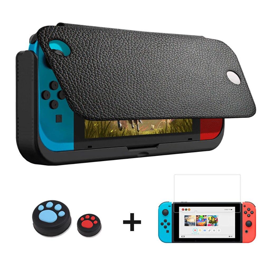 10000 mAh chargeur de batterie étui pour support de commutateur de Nintendo support de support en cuir NS pour Nintendo Switch housse de batterie portative cadeaux