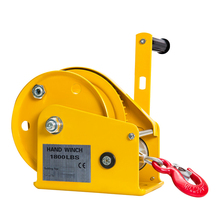 1800LBS Self Locking Manual Winch With 8m Wire Rope And Hook, Hand Tool Lifting Sling Machine Hoist