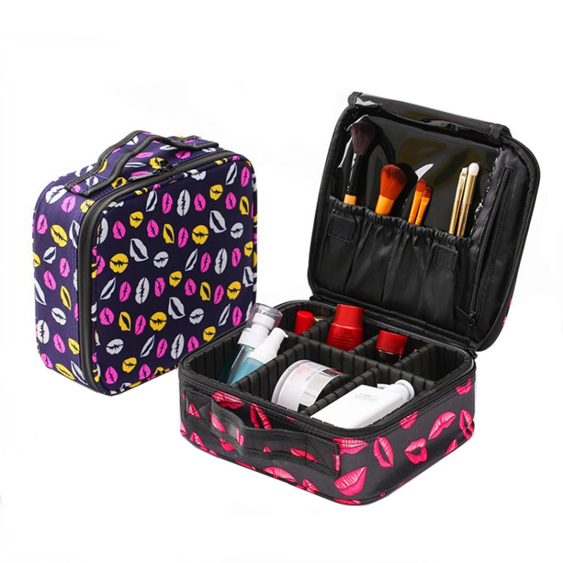 Big Professional Beautician Cosmetic Bag Case Women Vanity Makeup Box Toiletry Wash Storage Travel Organizer Luggage Accessories big cosmetic bag vanity case travel organizer functional makeup box toiletry storage beautician necessaire accessories supply
