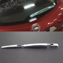 Car Accessories Exterior Decoration ABS Chrome Rear Window Wiper Noozle Cover Trims For Nissan Tiida 2016 Styling