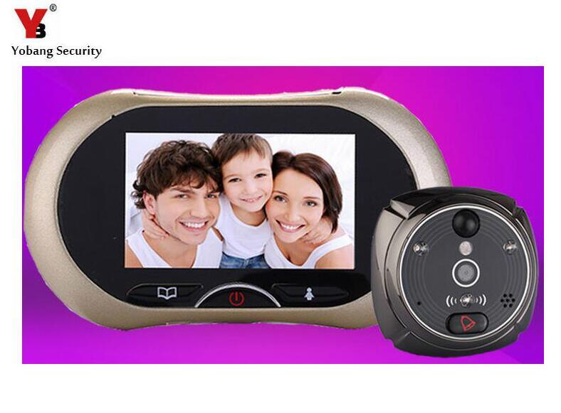 Yobang Security-3.7Door Peephole Camera support motion detection door viewer video recording door eye video doorbell door