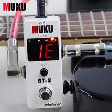 MUKU BT-2 Mini Sintonizador de Pedal de Efectos para Guitarra Eléctrica/Guitarra Sintonizador de Pedal