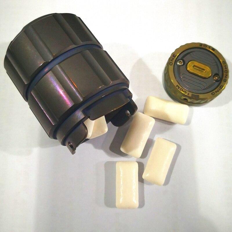 Pot en titane de bouteille de capsule étanche portable bouteille de médicament boîte de stockage réservoirs de camping en plein air outil - 5