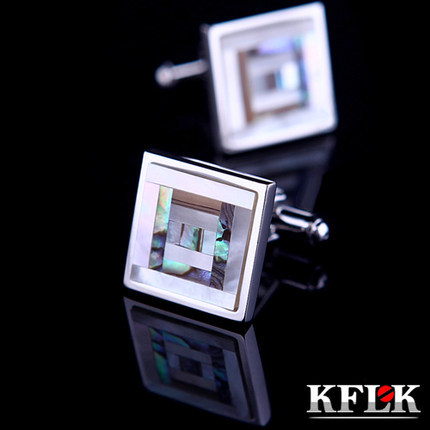 KFLK Luxury 2018 shirt cufflinks for mens gift Brand cuff buttons Color Shell cuff link High Quality abotoaduras Jewelry