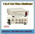 Envío Libre 1 En 8 Hacia Fuera Compuesto BNC Conector De Vídeo Amplificador 1-8CH Splitter Para CCTV Sistema de Cámaras de Seguridad DVR