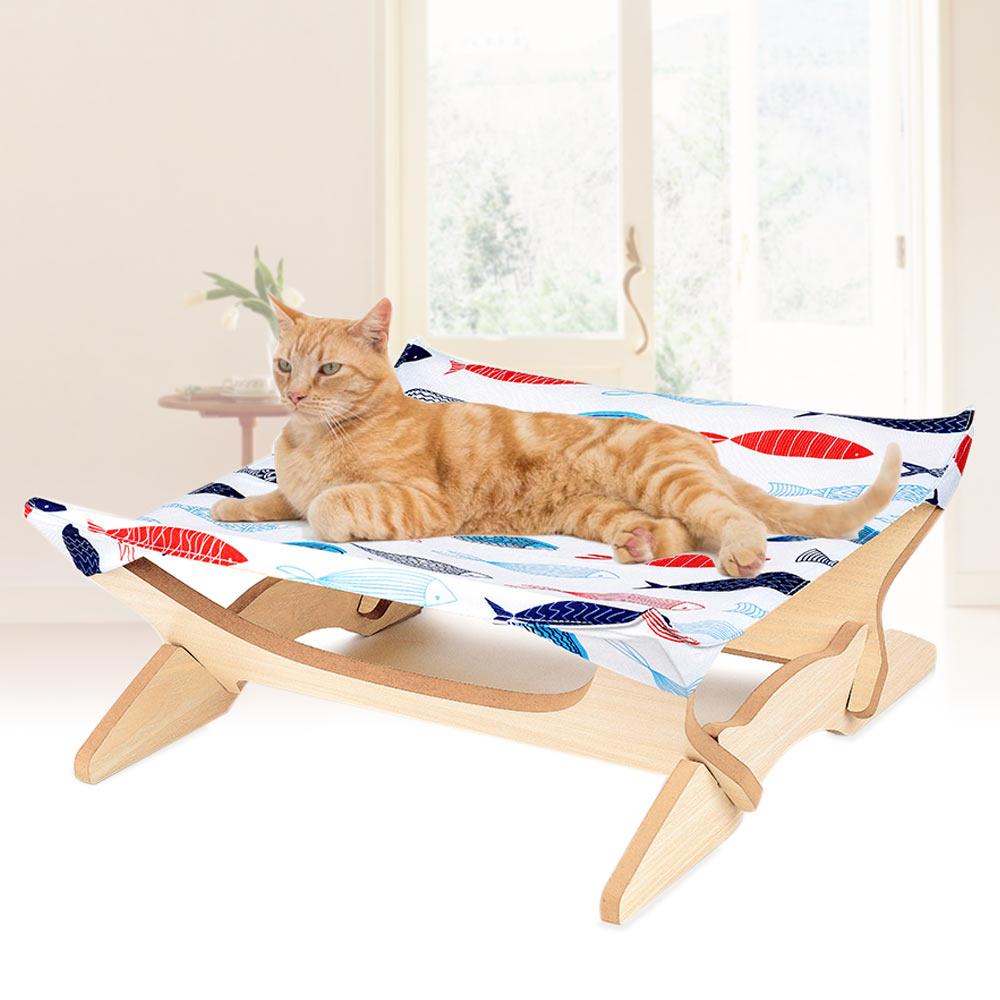 Animaux de compagnie chat hamac lit en bois repos cadeaux respirant doux confortable pour dormir LBShipping