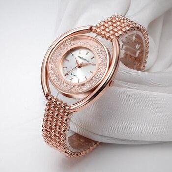 REBIRTH Women's Watches Ladies Watch Luxury Relogio Feminino Rose Gold Bracelet For Women Clock Women Reloj Mujer Saat 1