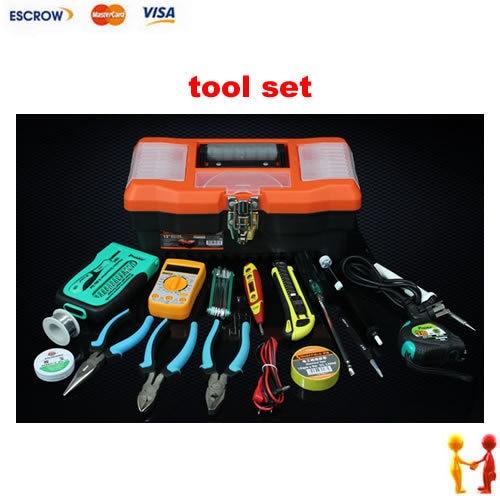 Бытовая набор инструментов, полезный и удобный ящик для инструмента, мини мультиметр, высокое качество пайки железа, вице-нож и Tapeline