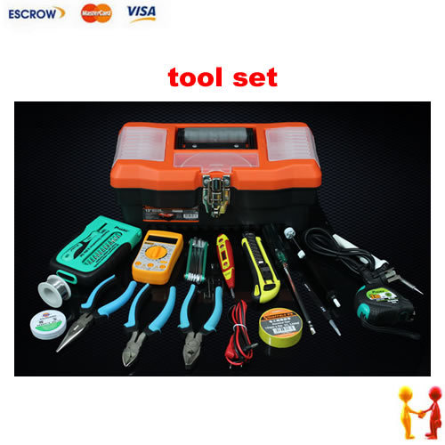 Household tool set useful and convenient tool box mini multimeter high quality solder iron vice font