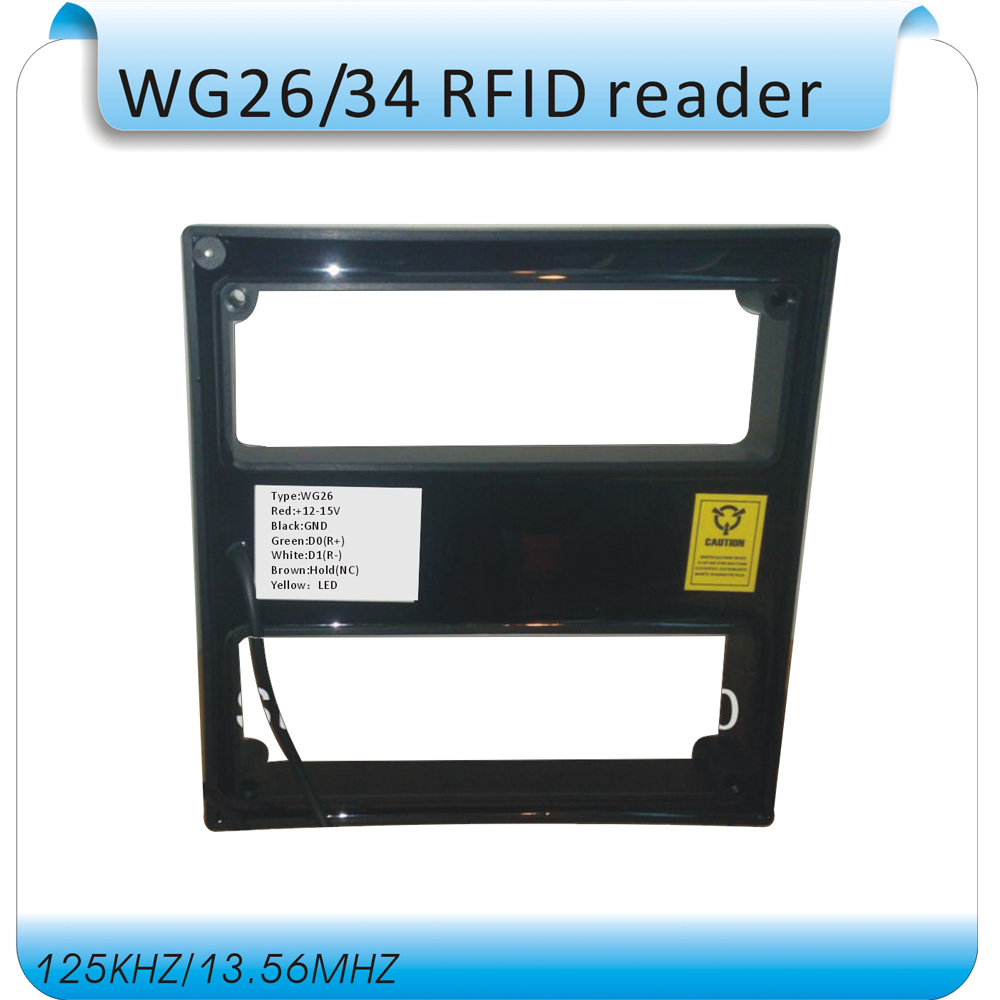 Access Control Proximity RFID Card Reader Wiegand 26/34 EM-ID 125KHz Reader&ABS Shell Waterproof Access Control System