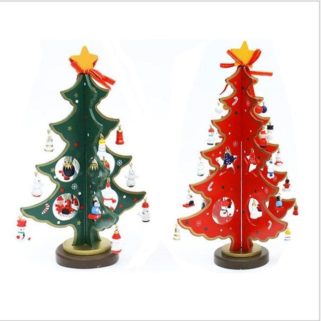 Creative Diy Wooden Christmas Tree Decoration Christmas Gift