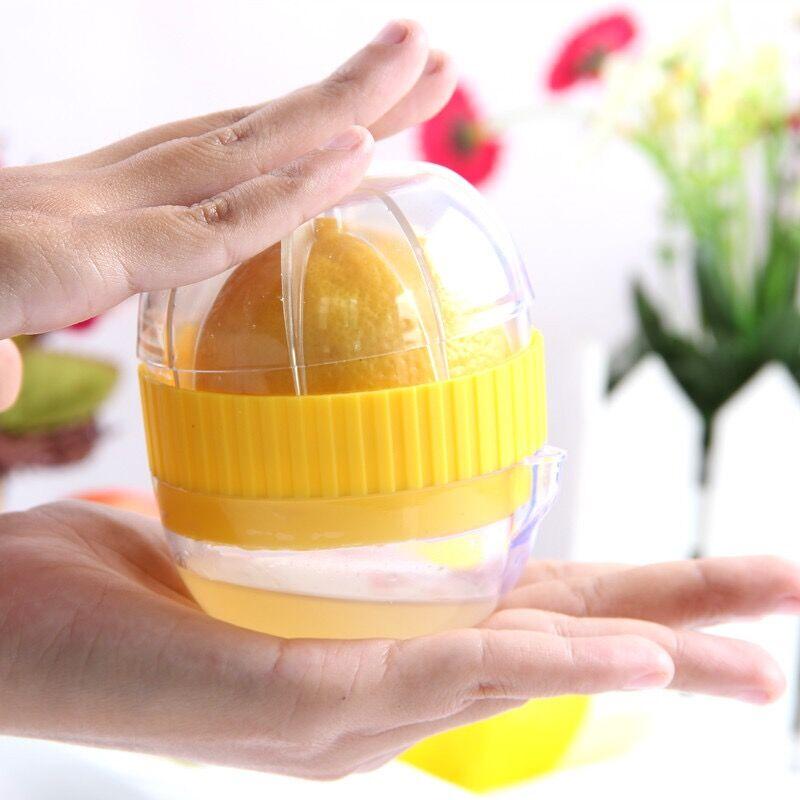 Ручной мини портативный соковыжималка для лимона 100% фруктовый сок желтый ручной цитрусовый пресс пластик соковыжималка здоровый образ жиз...