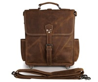 J.M.D Classic Crazy Horse leather Men Messenger Bag Briefcase Laptop Bag Shoulder Bags 7316B