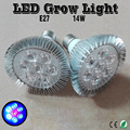 E27 14W LED Grow Light 1Red & 6Blue Perfect For Hydroponic Garden & Grow Tent To Fastest Succulent plants Growth