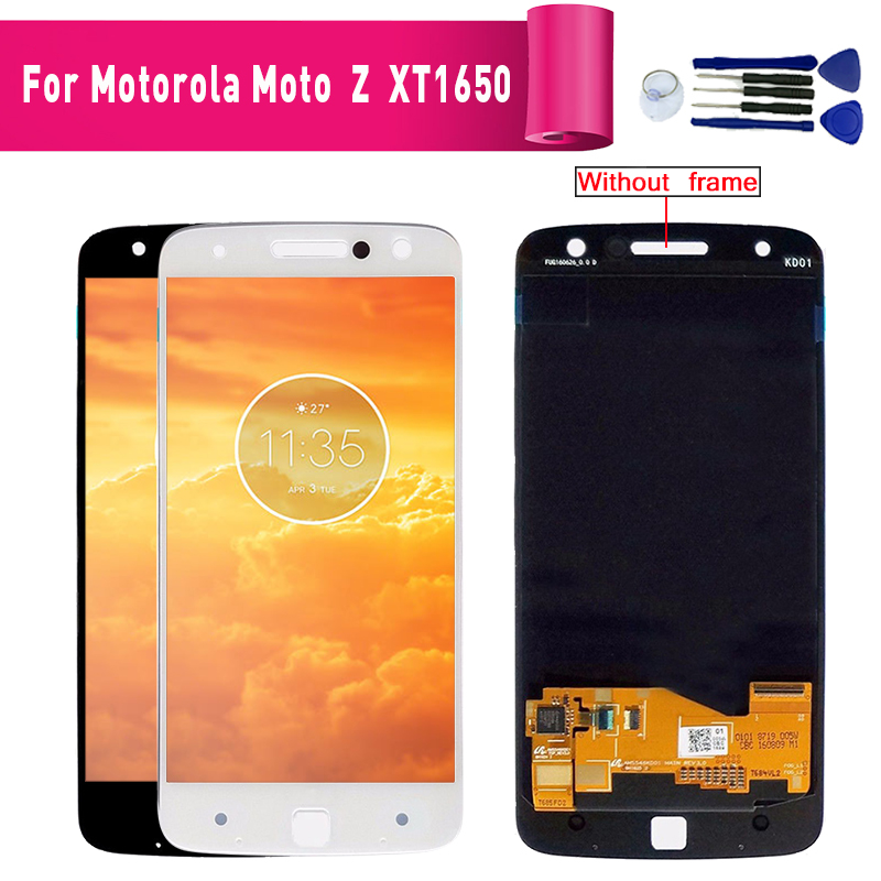 For Motorola MOTO Z <font><b>XT1650</b></font> <font><b>LCD</b></font> Display/For Moto Z Droid Edition XLTE <font><b>XT1650</b></font> <font><b>LCD</b></font> touch screen Digitizer Assembly <font><b>lcd</b></font> +Tools image