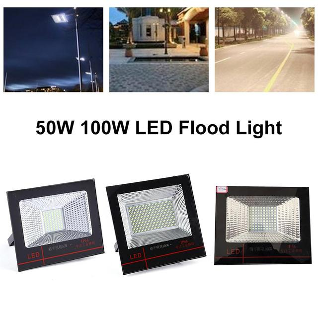 LED FloodLight 50W 100W Reflector LED Super Bright Security Flood Light Waterproof IP66 Wall Outdoor Landscape Light White light