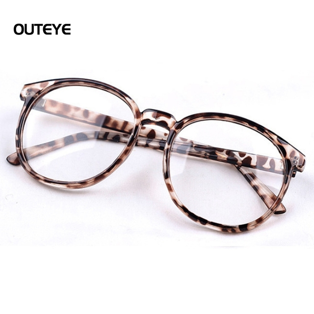 6a77a33630 OUTEYE Clear Lens Glasses Frame Women Round Eye Glasses Eyewear Computer Eyeglasses  Frame Optical Goggles Sunglasses Lunette