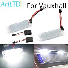 2pcs Special License Plate Lights Lamp For Vauxhall Corsa C D Astra H J +OPC Vectra C+OPC Zafira B Tigra Cascada 6500K 2W 12V