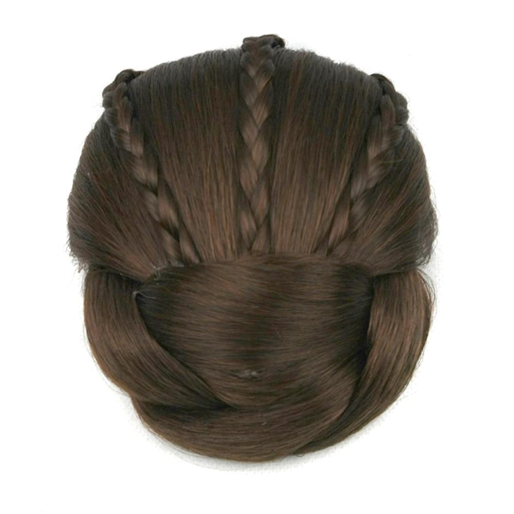 Soowee 6 Colors Synthetic Hair Piece Brown Blonde Braided Chignon Clip In Hair Bun High Temperature