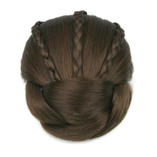 Soowee 6 Colors Synthetic Hair Piece Brown Blonde Braided Chignon Clip In Hair Bun High Temperature Fiber Donut Hair Rollers