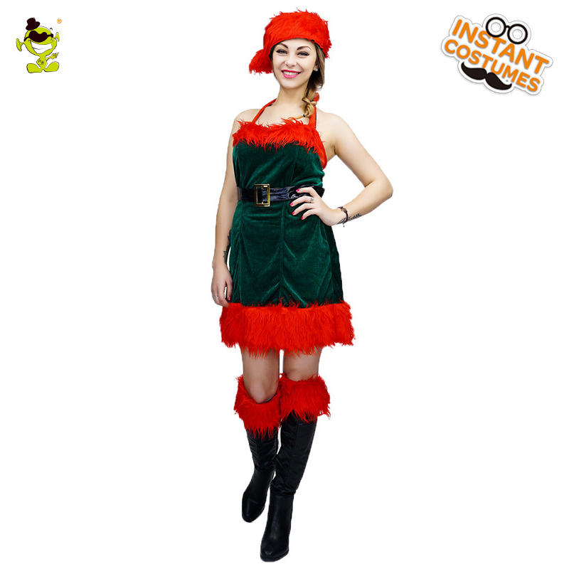 Christmas Jingle Girl Costume New Year Winter Dress Christmas Outfits Women's Ball Party Wear Cosplay Costumes