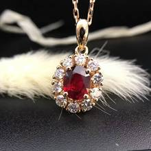 18K Gold 0.772ct Natural Ruby and Pendant Necklace 0.360ct Diamond inlaid 2016 Factory Direct New Arrival Fine Jewelry
