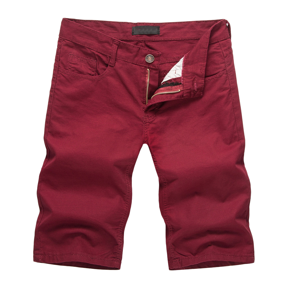 Men Shorts For Summer Casual Brand Compression Male Solid Color Wine Red Cargo Shorts Cotton Fashion Men Short Sweatpants