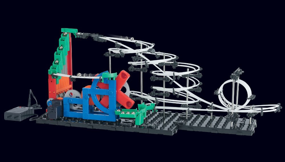 Free ship, Second Generation Space Rail Toys, New Roller coaster Level 1: UP DOWN STAIR, Overspeeding Model Building Kits 232-1 3