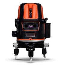 цены на 5-Line 6-Point Laser Level Auto Leveling 360 Rotation Vertical Laser Level Slash And Detector Wall Meter Outdoor Mode Available  в интернет-магазинах