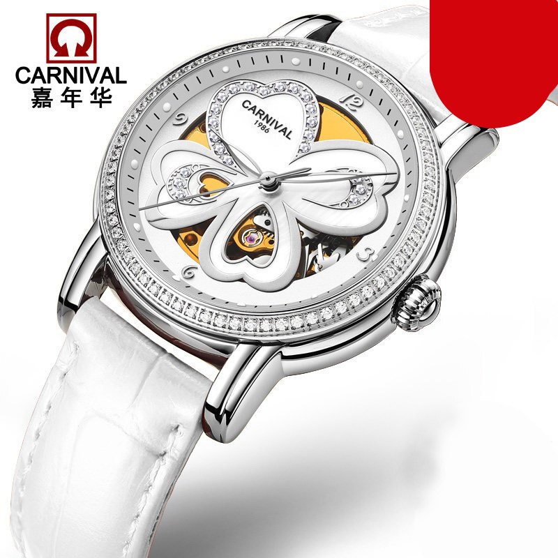 Switzerland Carnival Luxury Brand Watches Women Automatic Mechanical Wristwatches Sapphire Waterproof relogio feminino C8032-1Switzerland Carnival Luxury Brand Watches Women Automatic Mechanical Wristwatches Sapphire Waterproof relogio feminino C8032-1