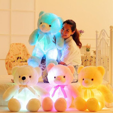 Creative Light Up LED Teddy Bear Stuffed Animals Plush Toy Colorful Glowing Teddy Bear Birthday Christmas Gift for Kids Children цены