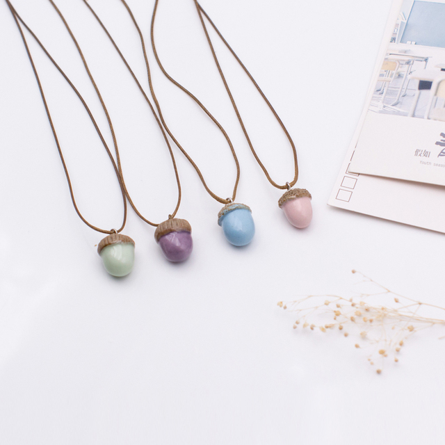 Womens ceramic acorn classic neclaces pendants diy handmade womens ceramic acorn classic neclaces pendants diy handmade necklace for women christmas gift dx2519 mozeypictures Image collections