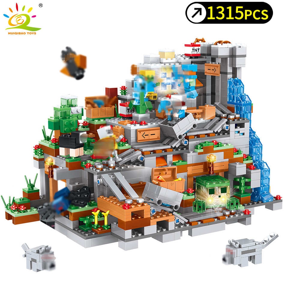 1315pcs My World Toys Mechanism Cave Building Blocks Compatible Legoing Minecrafted Aminal Alex Figures Brick Toys For Children1315pcs My World Toys Mechanism Cave Building Blocks Compatible Legoing Minecrafted Aminal Alex Figures Brick Toys For Children