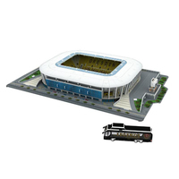 Classic Jigsaw 3D Models Dynamo Moscow Kirill Panchenko RU Football Game Stadiums DIY Brick Toys Scale Sets Paper World