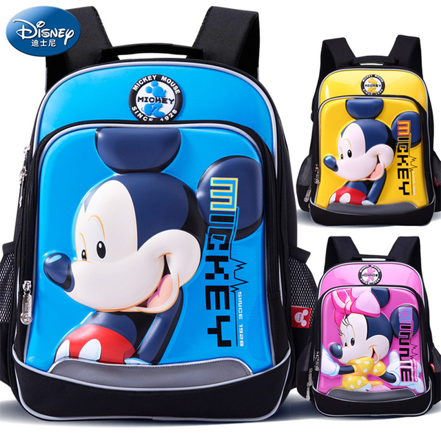 Disney Mickey Mouse Children Backpack High Quality School Bag for Girls  Cartoon Schoolbag Ultralight Kids Satchel 63dea0bf3bdd4