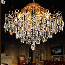 Continental dual luxury crystal lamp living room lamp creative restaurant lighting lamps bedroom gold  Chandeliers Lmy-0243