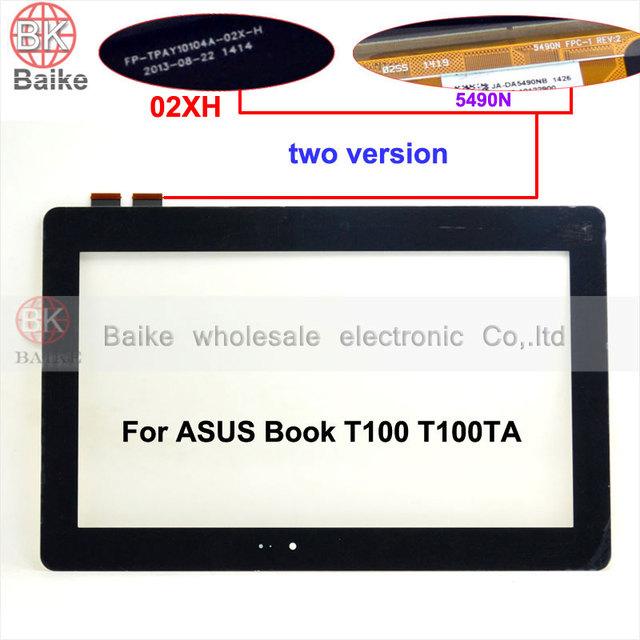 10.1 polegada de tela sensível ao toque para asus transformer book t100 t100ta fp-tpay10104a-02x-h digitador do painel de vidro da tela de toque e 5490n