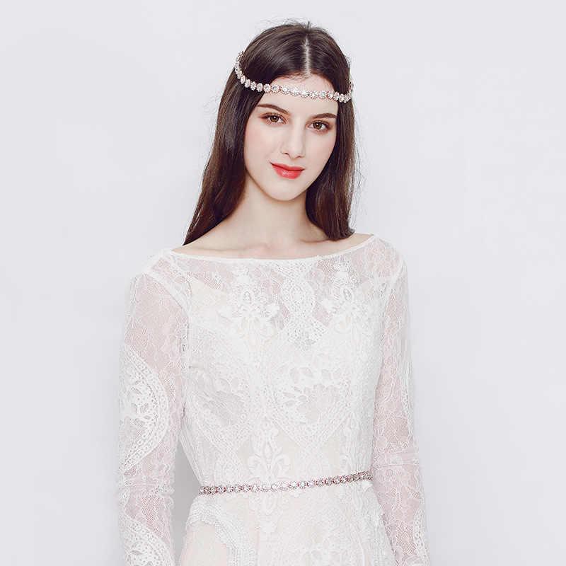 Свадебная Красота Мода полудрагоценные каменные цепочки для тела для женщин ювелирные изделия для тела Свадебные талии цепи аксессуары горный хрусталь Талия